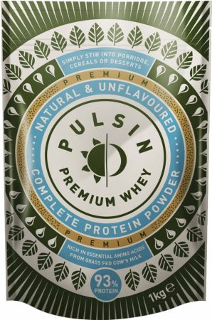 Image of Pulsin' Whey Protein Isolate Powder 1 Kilogram Natural & Unflavoured