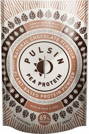 Image of Pulsin Pea Protein Isolate Powder 250 Grams Natural Chocolate
