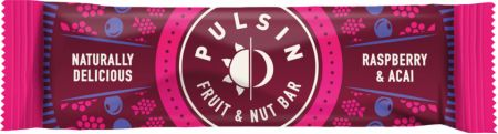 Image of Pulsin Fruit & Nut Bar 18 - 35g Bars Raspberry & Acai
