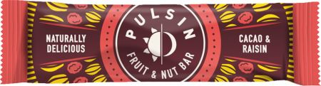 Image of Pulsin Fruit & Nut Bar 18 - 35g Bars Cacao & Raisin