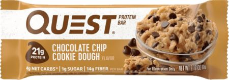 Image of Quest Bars Chocolate Chip Cookie Dough 1 Bar - Protein Bars Quest Nutrition