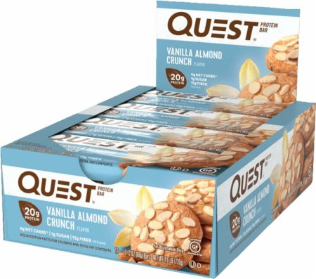 Quest Nutrition Quest Bars Vanilla Almond Crunch 12 Bars - Protein Bars