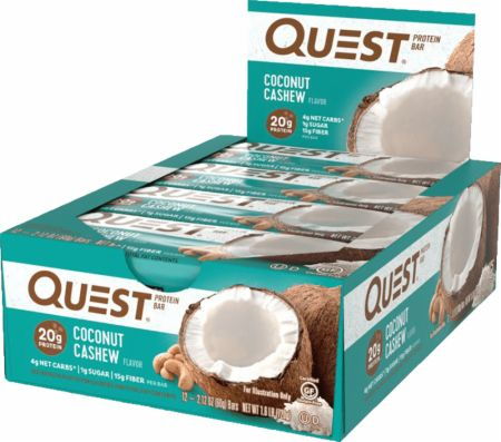 Quest Nutrition Quest Bars Coconut Cashew 12 Stevia Sweetened Bars - Protein Bars