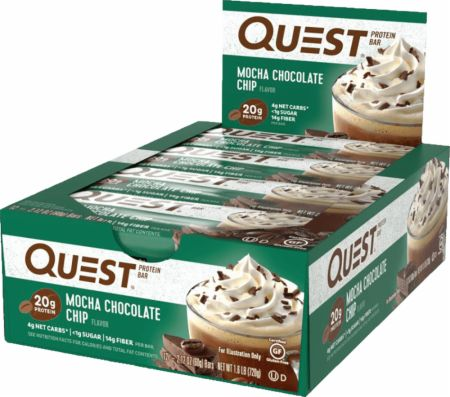 Quest Nutrition Quest Bars Mocha Chocolate Chip 12 Bars - Protein Bars