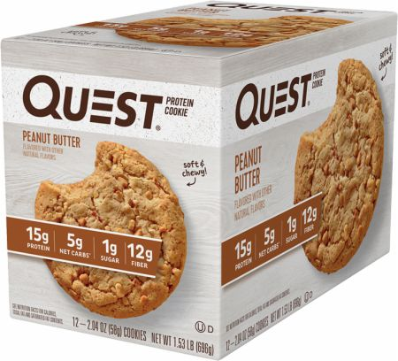 Image of Protein Cookie Peanut Butter 12 Cookies - Protein Bars Quest Nutrition
