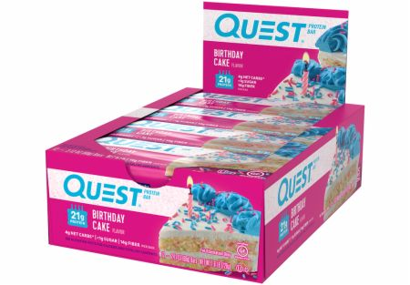 Image of Quest Bars Birthday Cake 12 Bars - Protein Bars Quest Nutrition