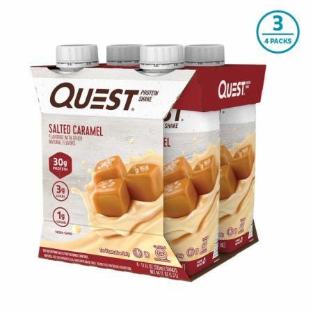 Image of Protein Shake RTD Salted Caramel 12 - 11 Fl. Oz. Shakes - Protein RTD Shakes Quest Nutrition