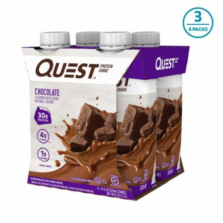 Image of Protein Shake RTD Chocolate 12 - 11 Fl. Oz. Shakes - Protein RTD Shakes Quest Nutrition