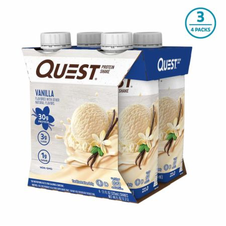 Image of Protein Shake RTD Vanilla 12 - 11 Fl. Oz. Shakes - Protein RTD Shakes Quest Nutrition