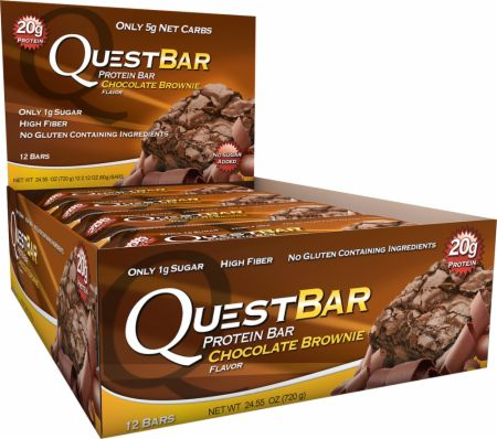 Image of Quest Bars Chocolate Brownie 12 x 60g Bars - Protein Bars Quest Nutrition