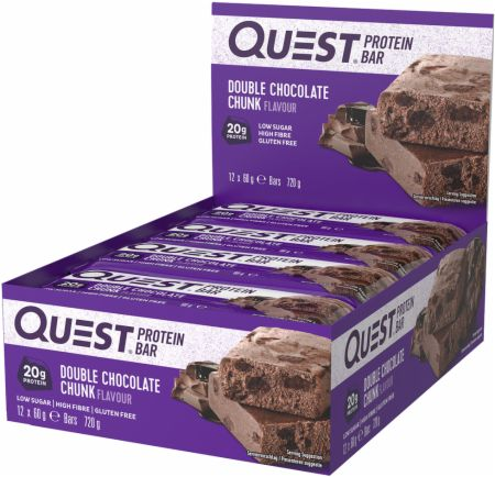 Image of Quest Bars Double Chocolate Chunk 12 x 60g Bars - Protein Bars Quest Nutrition