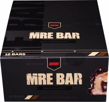 REDCON1 MRE Bar Oatmeal Chocolate Chip 12 Bars - Protein Bars