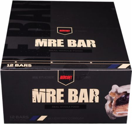REDCON1 MRE Bar Blueberry Cobbler 12 Bars - Protein Bars