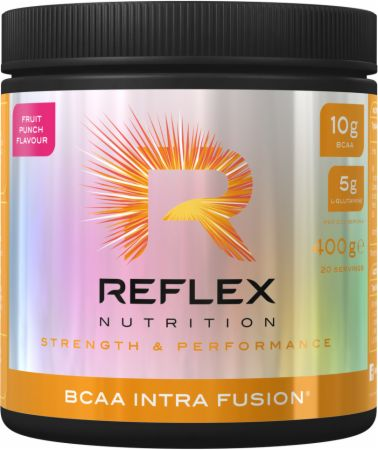 Image of BCAA Intra Fusion Fruit Punch 400 Grams - Amino Acids & BCAAs Reflex Nutrition