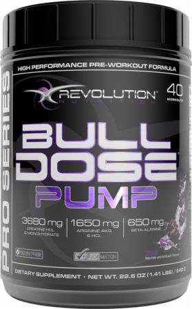 Image of Revolution Nutrition BullDose Pump 40 Servings Grape