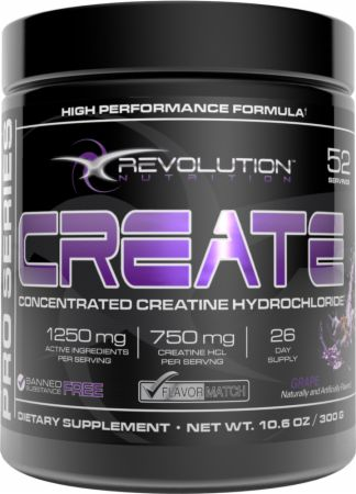 Image of Revolution Nutrition Create 52 Servings Grape