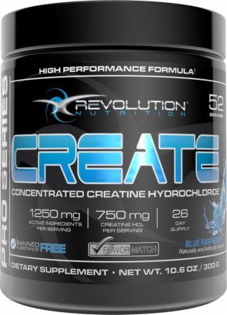Image of Revolution Nutrition Create 52 Servings Blue Raspberry