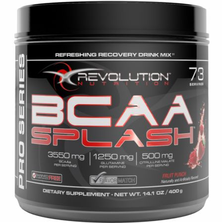Image of Revolution Nutrition BCAA Splash 73 Servings Fruit Punch