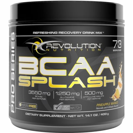 Image of Revolution Nutrition BCAA Splash 73 Servings Pineapple Mango