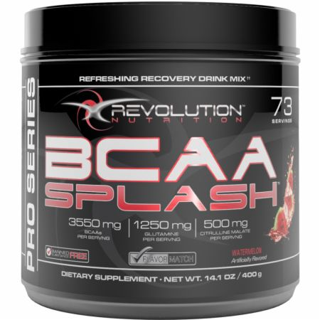 Image of Revolution Nutrition BCAA Splash 73 Servings Watermelon