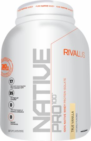 Image of Native Pro 100 True Vanilla 2.8 Lbs. - All Natural Whey Protein RIVALUS