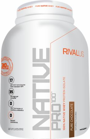 Image of Native Pro 100 Pure Chocolate 2.8 Lbs. - All Natural Whey Protein RIVALUS