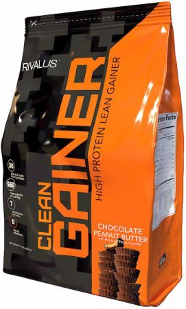 Image of Clean Gainer Chocolate Peanut Butter 12 Lbs. - Mass Gainers RIVALUS