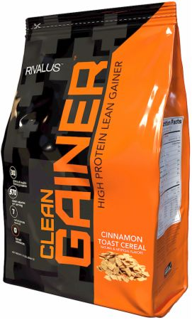 Image of Clean Gainer Cinnamon Toast Cereal 12 Lbs. - Mass Gainers RIVALUS