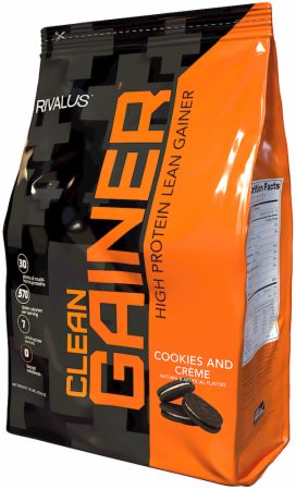 Image of Clean Gainer Cookies & Crème 12 Lbs. - Mass Gainers RIVALUS