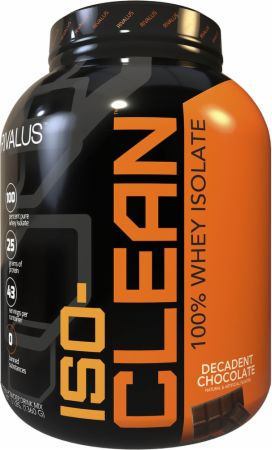 Image of ISO-Clean Whey Protein Isolate Decadent Chocolate 3 Lbs. - Protein Powder RIVALUS