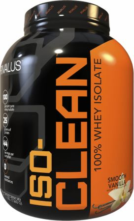 Image of ISO-Clean Whey Protein Isolate Smooth Vanilla 3 Lbs. - Protein Powder RIVALUS