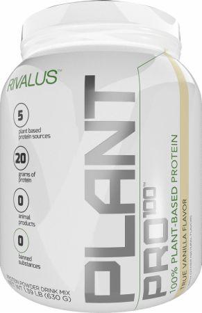 Image of Plant Pro 100 True Vanilla 20 Servings - Protein Powder RIVALUS