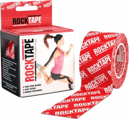 Image of RockTape Kinesiology Tape 2 inch x 16.5 Feet Red Logo
