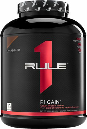 Image of R1 Gain Chocolate Fudge 16 Servings - Mass Gainers Rule One Proteins