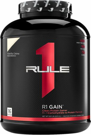 Image of R1 Gain Vanilla Creme 16 Servings - Mass Gainers Rule One Proteins