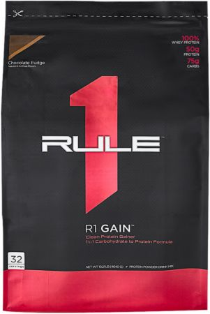 Image of R1 Whey Protein Gainer Chocolate Fudge 32 Servings - Mass Gainers Rule One Proteins
