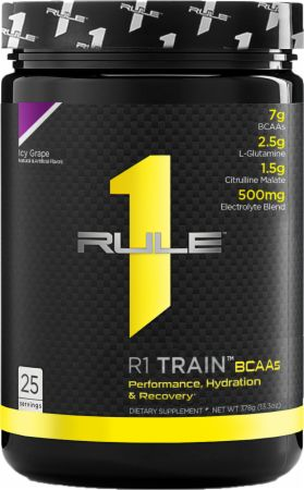 Image of R1 Train BCAAs Icy Grape 25 Servings - Amino Acids & BCAAs Rule One Proteins