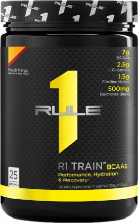 Image of R1 Train BCAAs Peach Mango 25 Servings - Amino Acids & BCAAs Rule One Proteins