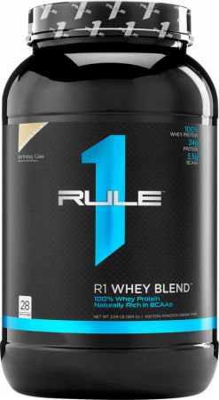 Image of R1 Whey Protein Blend Birthday Cake 28 Servings - Protein Powder Rule One Proteins