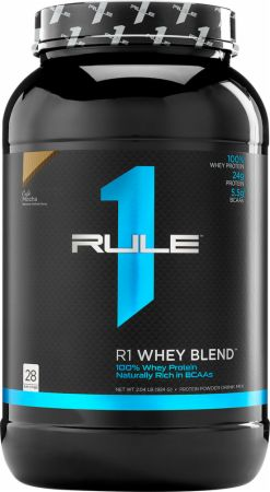 Image of R1 Whey Protein Blend Cafe Mocha 28 Servings - Protein Powder Rule One Proteins