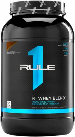 Image of R1 Whey Protein Blend Chocolate Fudge 28 Servings - Protein Powder Rule One Proteins