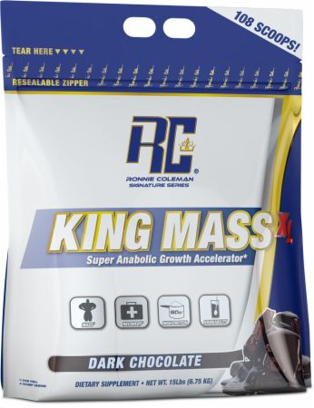 Image of Ronnie Coleman Signature Series King Mass XL 15 Lbs. Dark Chocolate