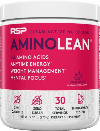 Image of RSP Nutrition AminoLean Energy Formula 30 Servings Fruit Punch