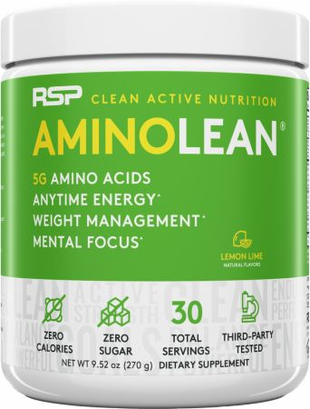 Image of RSP Nutrition AminoLean Energy Formula 30 Servings Lemon Lime