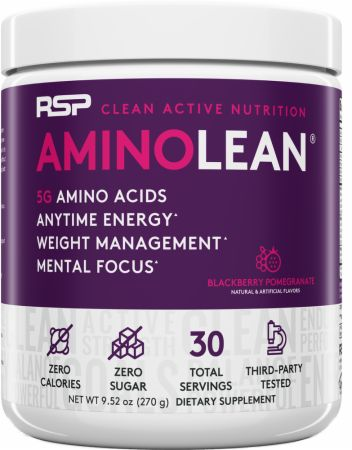 Image of RSP Nutrition AminoLean Energy Formula 30 Servings Blackberry Pomegranate
