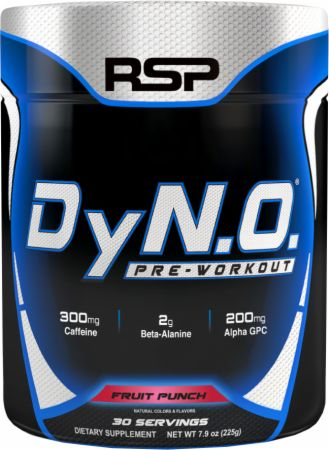 RSP Nutrition DyNO Fruit Punch 30 Servings - Pre-Workout Supplements