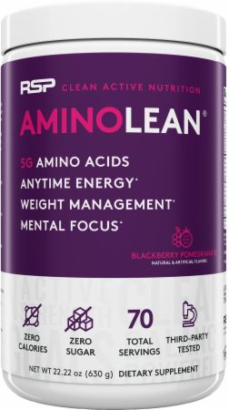 Image of AminoLean Amino Acids Blackberry Pomegranate 70 Servings - Amino Acids + Energy RSP Nutrition