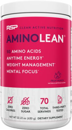 Image of AminoLean Amino Acids Fruit Punch 70 Servings - Amino Acids + Energy RSP Nutrition