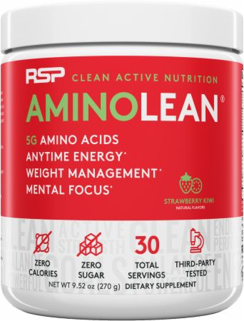 Image of AminoLean Amino Acids Strawberry Kiwi 30 Servings - Amino Acids + Energy RSP Nutrition