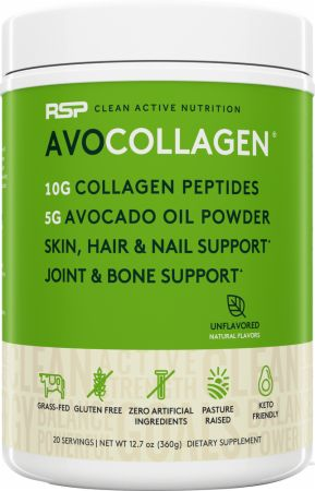 Image of AvoCollagen Collagen Peptides Unflavored 20 Servings - Joint Support RSP Nutrition